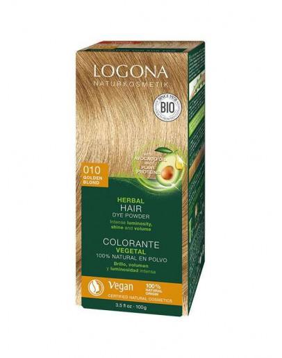 Natuurlijke haarkleuring 010 Goudblond-Logona 100 g