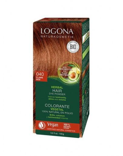 Natuurlijke Haarkleuring 040 Koperrood (vlammend rood)-Logona 100 g