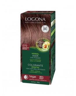 Natuurlijke Haarkleuring 070 Kastanjebruin (maronenbruin) Logona 100 g
