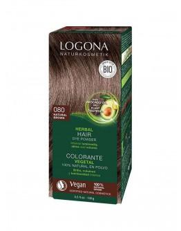 Natuurlijke Haarkleuring 080 Bruin-Natuur-Logona 100 g