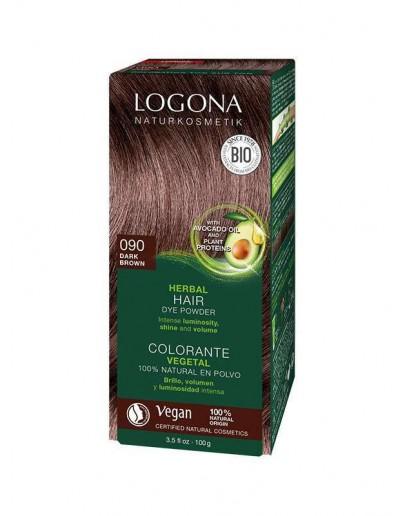 Natuurlijke Haarkleuring 090 Bruin-Umbra-Logona 100 g