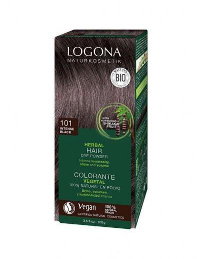 Natuurlijke Haarkleuring 101 Intens Zwart-Logona 100 g
