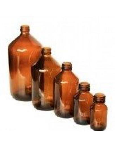 Fles glas bruin 100 ml din 28-Herbacos