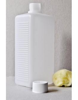 Fles plast HDPE rechthoekig 500 ml din 25-Herbacos