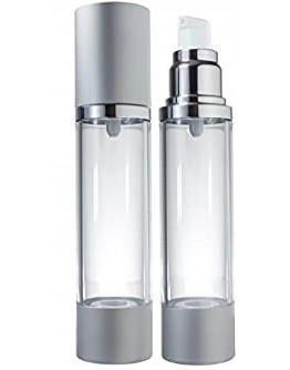 Fles airless pomp dispenser zilveren dop-Herbacos 50 ml