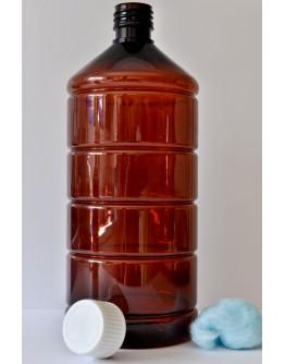 Fles PET bruin 1000 ml din 28-Herbacos