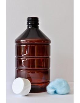 Fles PET bruin 500 ml din 28-Herbacos