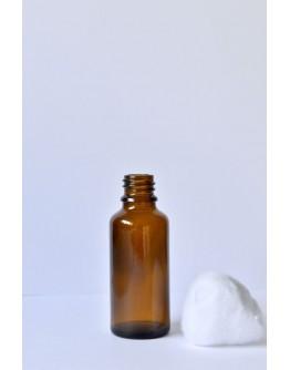Fles glas bruin 30 ml din 18-Herbacos