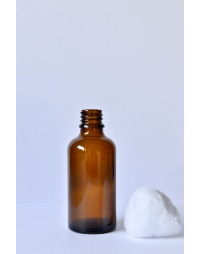 Fles glas bruin 50 ml din 18-Herbacos