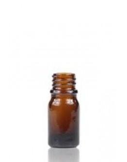Fles glas bruin 5 ml din 18-Herbacos