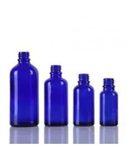 Fles glas blauw 30 ml din 18-Herbacos