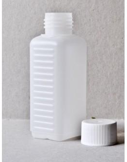 Fles plast HDPE rechthoekig 100 ml din 25-Herbacos