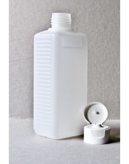 Fles plast HDPE rechthoekig 250 ml din 25-Herbacos