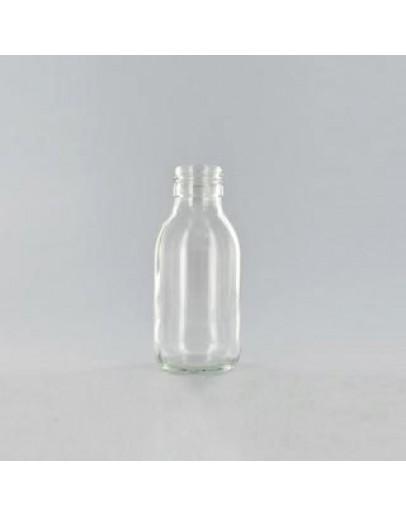Fles siroopfles glas transparant m din28 100 ml