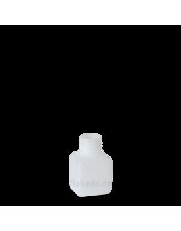 Fles plast HDPE rechthoekig 50 ml din 25-Herbacos