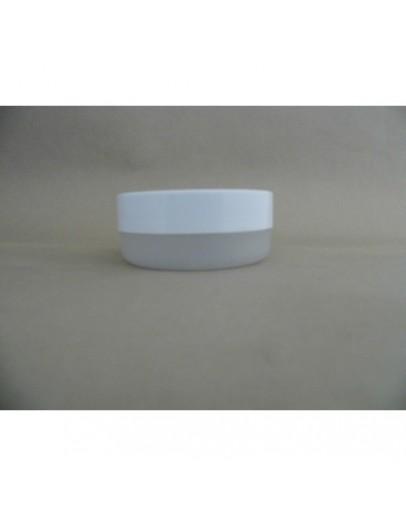 crème pot PET plat helder met witte dop b 100 ml
