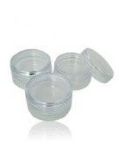 Pot 3 kleine transparante stapel potjes a 10 ml