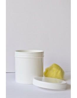 zalfpot eenvoudig plastiek wit 130 ml met dop-Herbacos