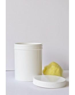 zalfpot eenvoudig plastiek wit 150 ml  met dop-Herbacos