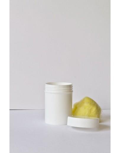 Zalfpot eenvoudig plastiek wit 50 ml met dop-Herbacos