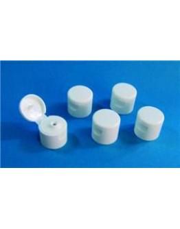 Dop din 25 klapdop voor HDPE fles rechthoekig wit-Herbacos