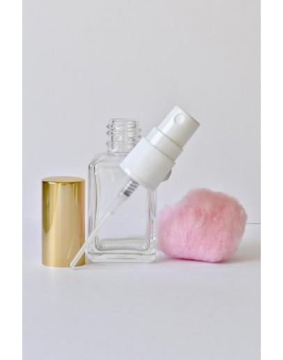 Verstuiver glas helder 30 ml solaris met gouden dop-Herbacos