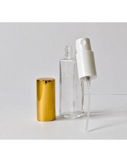 Verstuiver glas helder mini 7-8 ml  met gouden dop-Herbacos