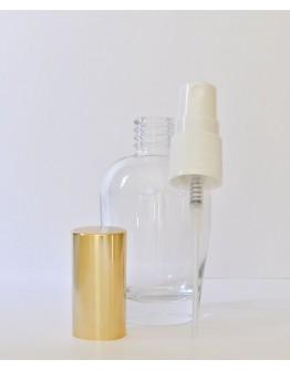 Verstuiver glas helder 50 ml corpus met gouden dop-Herbacos