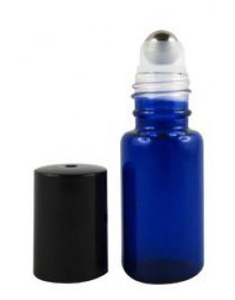 Roll-on fles roller glas blauw a 5 ml