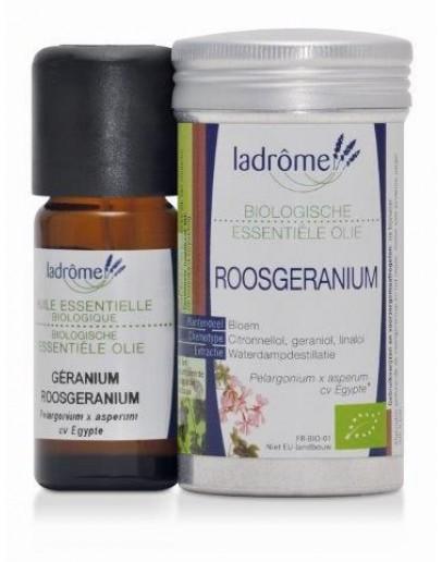 Roosgeranium bio Pelargonium x Asperum CV Bourbon etherische olie-Ladrôme 10 ml