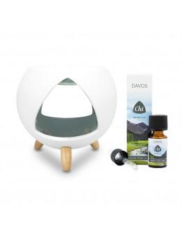 Aromaverdamper Cozy Aromaburner met Davos 10 ml-Chi